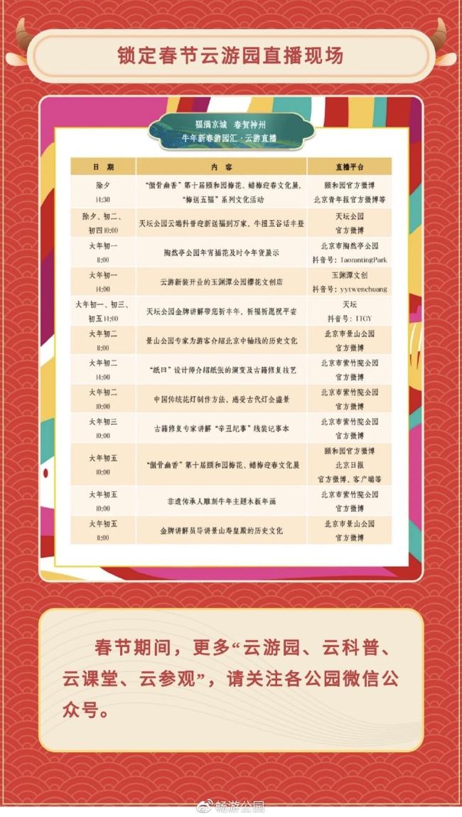 新春直播、云游导讲、线上课堂……北京线上游园指南来了