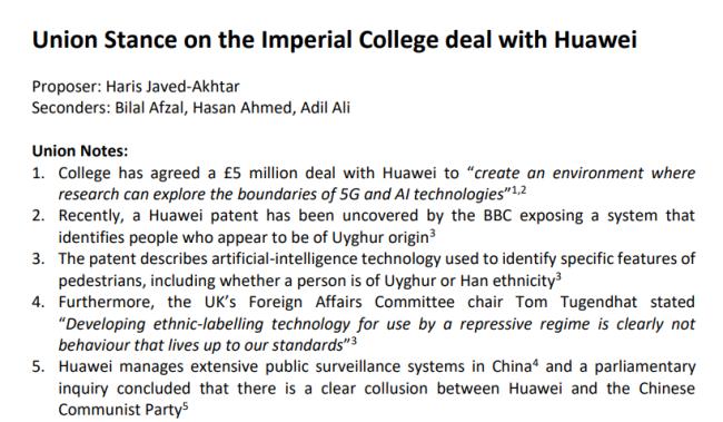 英国大学学生会通过反华提案,中国籍主席愤怒反对