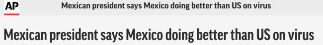 与中俄开展疫苗合作的墨西哥总统批美国:地球最强国家,比我们做得还糟!