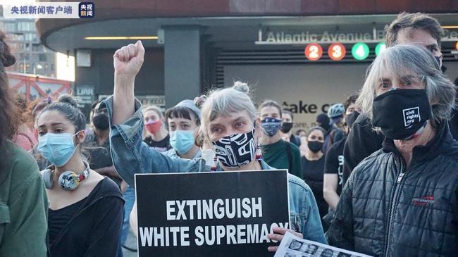 弗洛伊德案判决后纽约多地举行游行
