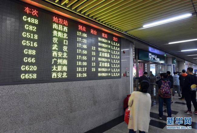 因京广高铁接触网故障 北京西站部分列车停运
