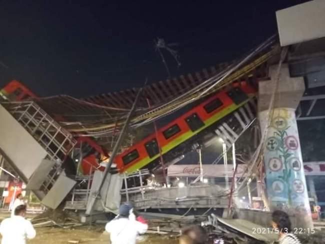 墨西哥首都轨交设施坍塌事故已致至少13死70伤