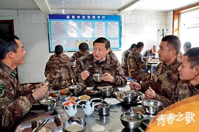 2014年1月26日,习近平专程来到内蒙古军区边防某部,亲切看望慰问戍边官兵。
