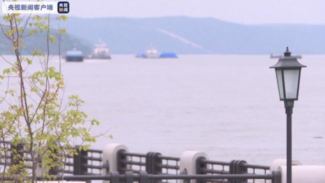 黑龙江黑河站水位持续上涨 预计洪峰11日到达