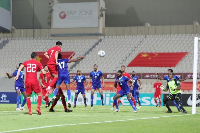 世预赛-武磊张玉宁传射阿兰破门 国足5-0马尔代夫