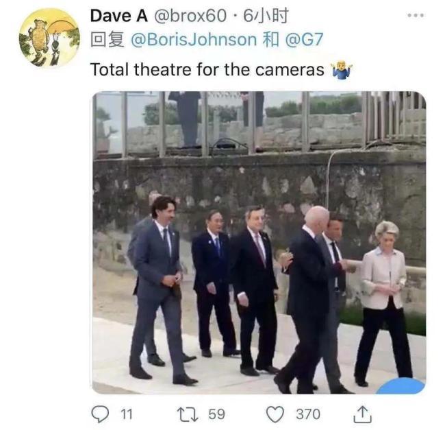 G7峰会约翰逊忙着秀恩爱,却秀了个寂寞