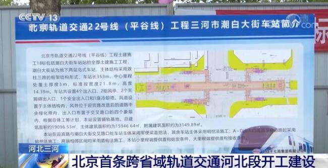 北京首条跨省域轨道交通河北段开工建设 将有力推进京津冀交通一体化建设