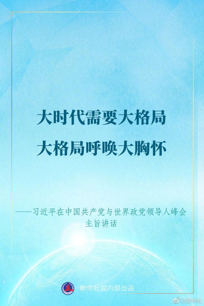 习近平在中国共产党与世界政党领导人峰会上的讲话金句来了!