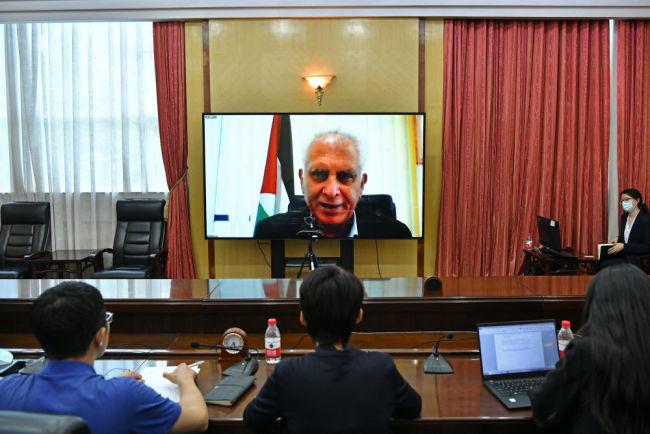 全球连线|中国共产党团结带领中国人民实现了持久的发展和繁荣——访巴勒斯坦人民党总书记萨利希