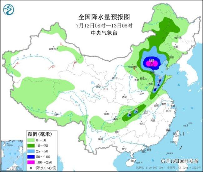 中央气象台升级发布暴雨黄色预警,暴雨强对流将席卷晋京冀鲁