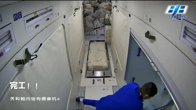 """中国空间站上,航天员如何""""装修""""卫生区?"""