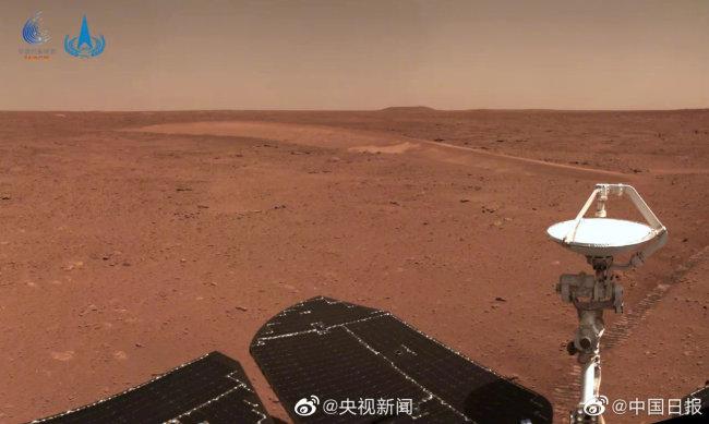 祝融号火星车已行驶509米 即将到达第二处沙丘