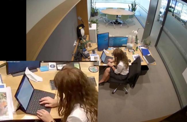 乔利被用来保护她的摄像头拍下了作案证据,她在学校办公室内伪造信件(图自澳媒)