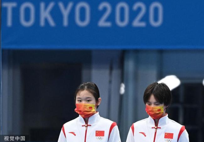 东京奥运会 中国队再入三金