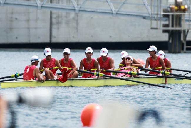 创造历史!中国队女子八人单桨有舵手决赛摘铜