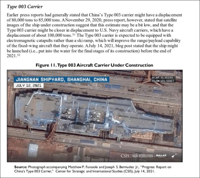 美国会发布中国海军评估报告:重点聚焦新航母