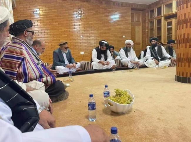 阿富汗塔利班代表团与反塔利班力量举行会谈