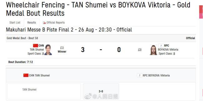 中国队残奥会第8金:谭淑梅轮椅击剑斩获第二金