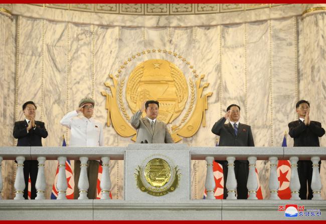 朝鲜举行建国73周年阅兵式