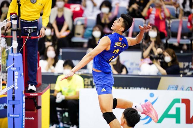 中国男排3比0完胜中国台北队!夺亚锦赛季军