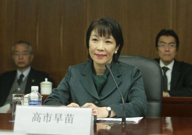 2009年2月11日在北京拍摄的时任日本经济产业省副大臣的高市早苗访华期间参加会见活动的资料照片。(新华社记者邢广利摄)