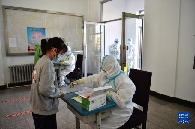 黑龙江巴彦:进行第二轮核酸检测