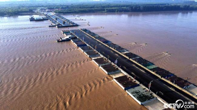 拆除浮桥 应对黄河秋汛