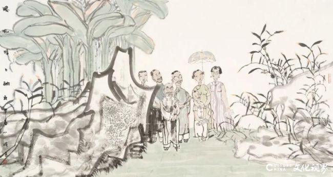 """暖风晴日融    故园春色好——著名画家王小晖将携新作亮相""""古今风度·2020—2021中国画名家主题创作展"""""""