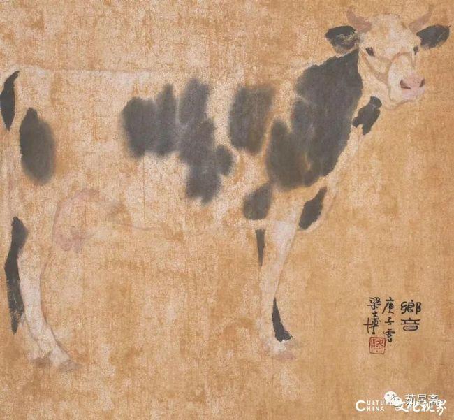 """独具慧眼 勤学苦练——从著名画家梁文博笔下的""""牛儿""""看他的创作之路"""