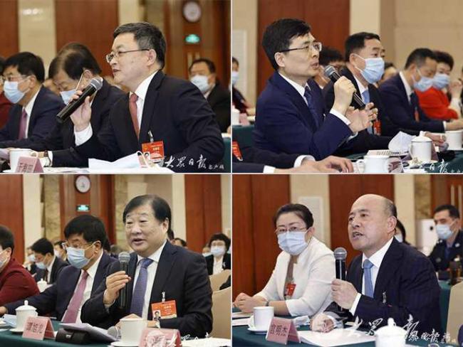 聚焦两会丨刘家义在山东代表团审议政府工作报告发言时点名三位企业家代表发言
