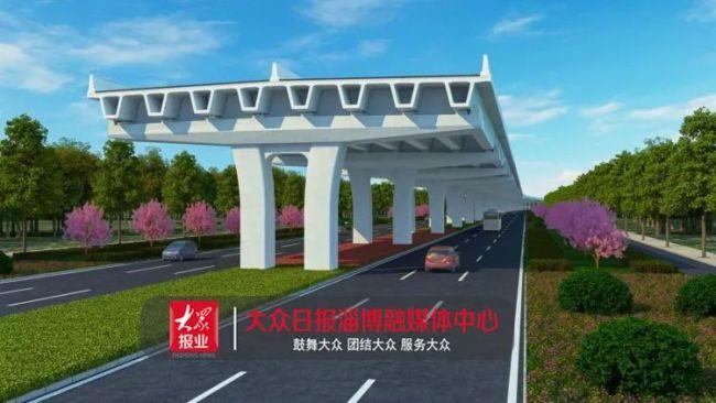 淄博的快速路效果图出炉:高架桥、6车道、51公里