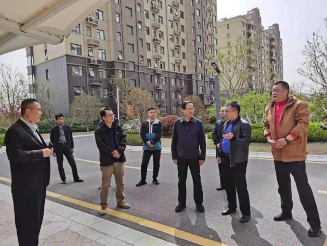 枣庄市开发征收服务中心主任谢宇一行到水发民生枣庄公司调研