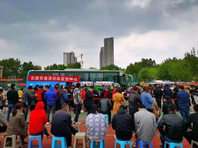 移动接种车开进社区,济南市天桥区率先开展新冠肺炎疫苗上门接种