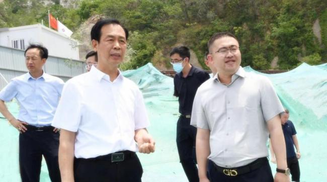济南市市中区委书记韩永军一行到中电建·国誉茂山项目检查指导工作