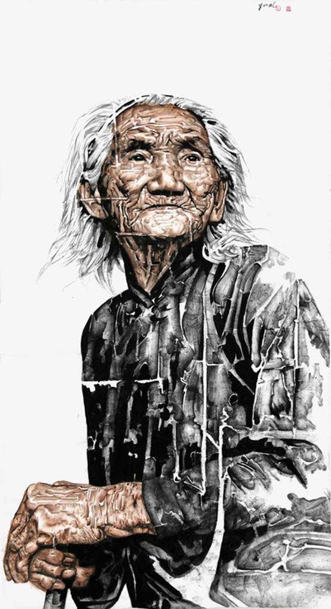 她是我依赖一生的扶手——著名画家李兆虬笔墨中的中国母亲