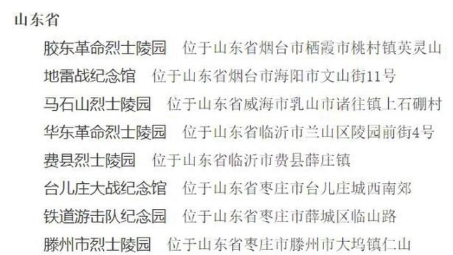 山东国家级抗战纪念设施遗址达30处,数量居全国首位