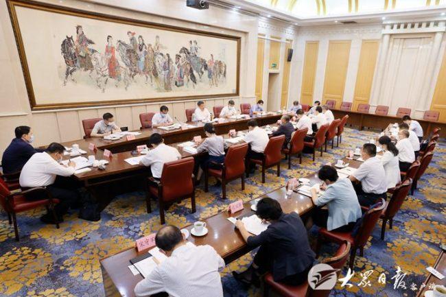 中央依法治国办专题调研座谈会举行,唐一军讲话,刘家义主持并作工作汇报