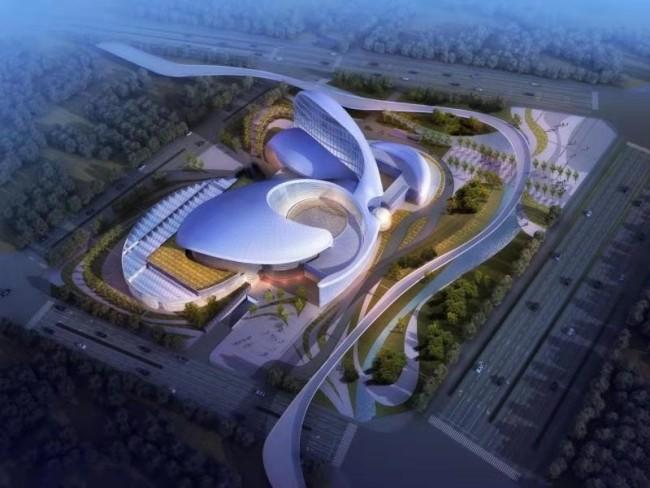 西咸新区泾河新城体育中心项目正式开建