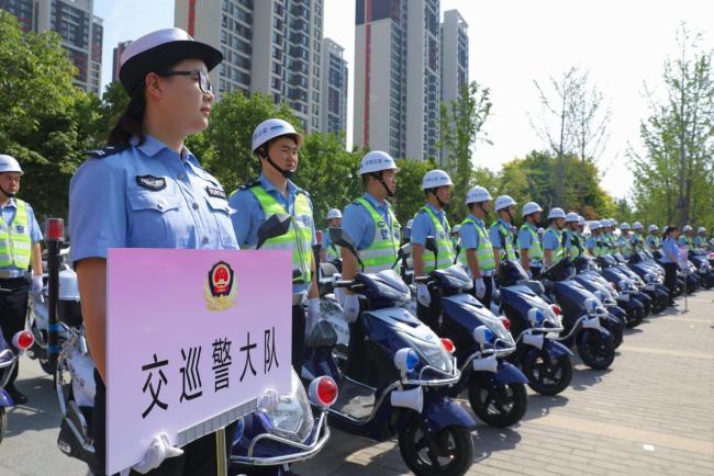 西咸新区沣西新城警务新装备充实基层一线