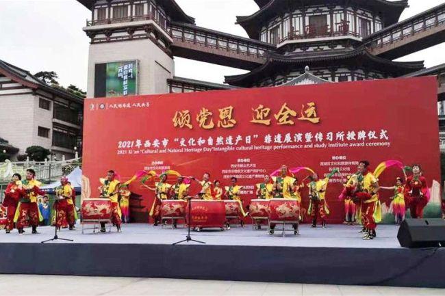 陕西国防职院与西安市非遗中心共建传统文化教育实践基地