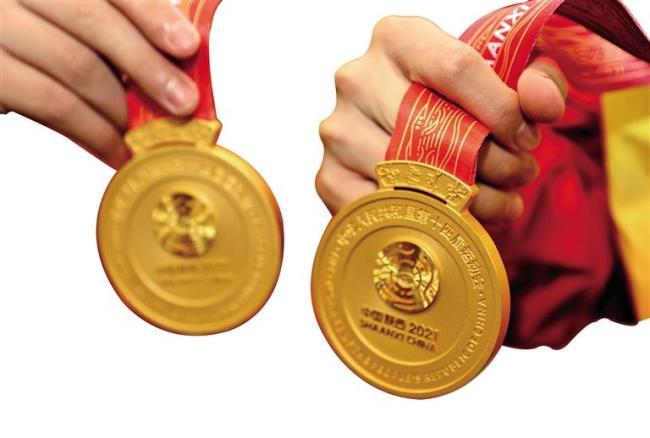 陕西选手获得跳水U14组男子双人跳台金牌