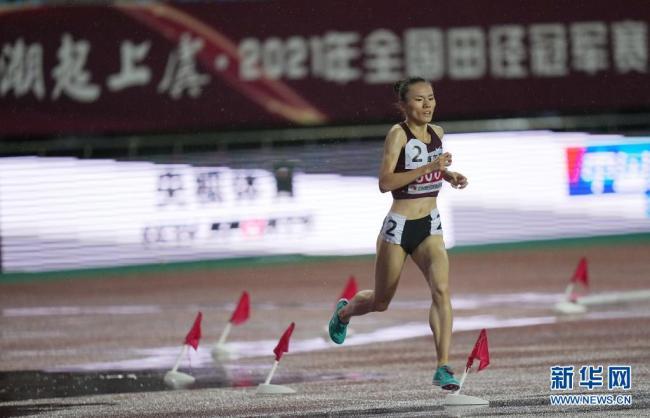 田径全国冠军赛:许双双获女子3000米障碍冠军