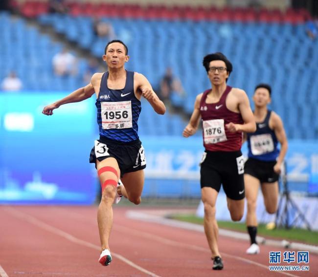 全国锦标赛:杨磊获男子400米冠军