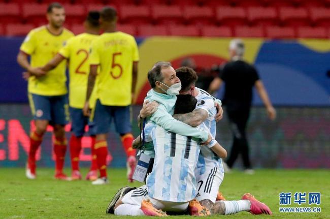 阿根廷4-3闯入决赛美洲杯决赛