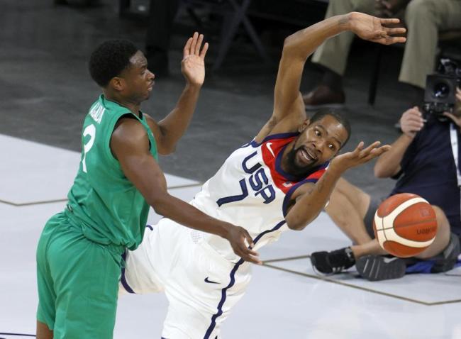 [图]美国男篮热身赛输球 尼日利亚20记三分造大冷门
