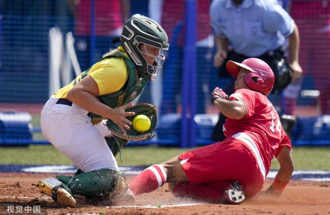 奥运首战打响:垒球比赛日本队8-1澳大利亚队
