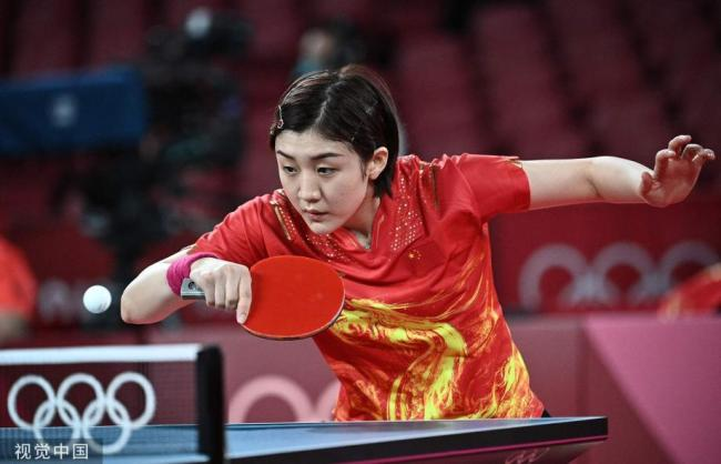 [图]东京奥运会乒乓球女单第3轮:陈梦4-0莫雷特