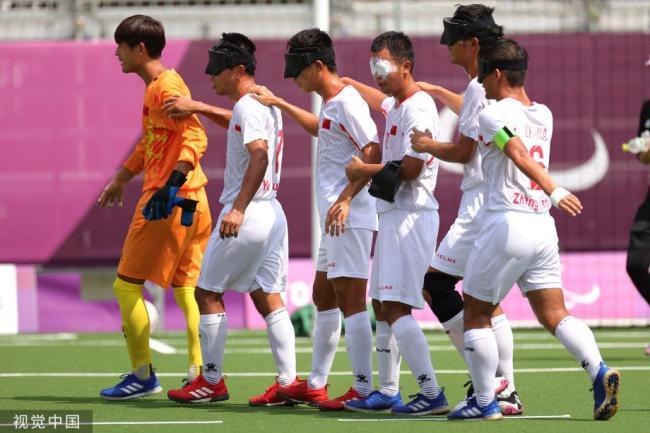 [图]残奥会-中国盲人足球队战胜日本队晋级四强