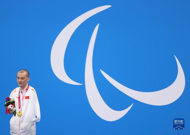 残奥会游泳:贾红光获得男子100米仰泳S6级金牌