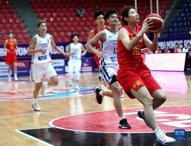 女篮亚洲杯小组赛:中国队胜中国台北队